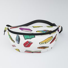 Books all over Fanny Pack