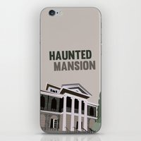 haunted mansion iPhone & iPod Skins featuring new Orleans square.. haunted mansion by studiomarshallarts
