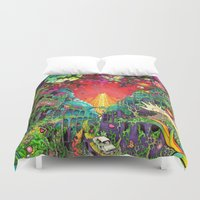 lsd Duvet Covers featuring Eurydice in the Underworld (LSD) by reservenote