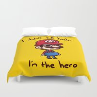 mario Duvet Covers featuring Mario by HeliPeach