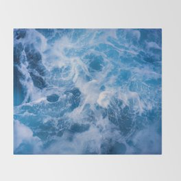 Abstract Water Throw Blanket