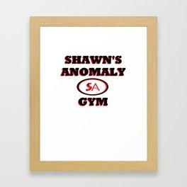Shawn's Anomaly Gym Framed Art Print