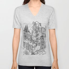 San Francisco! (B&W) Unisex V-Neck