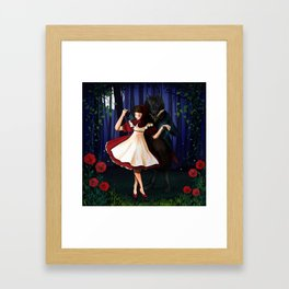A Dangerous Dance, Red Hood And The Wolf Framed Art Print