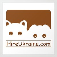 ukraine Art Prints featuring Hire Ukraine! by Earth Metal Comics