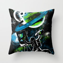 space Painting Throw Pillow