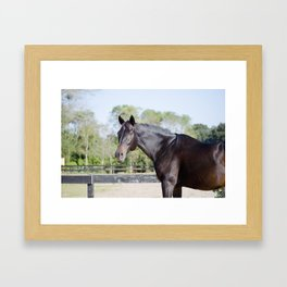 Beautiful in Blac Framed Art Print