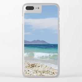 """""""Blue beach. Summer dreams"""" Clear iPhone Case"""