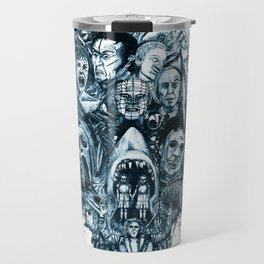"""The Essence of Horror"" [Red Version] by Cap Blackard Travel Mug"