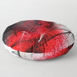 under the spotlight abstract digital painting Floor Pillow