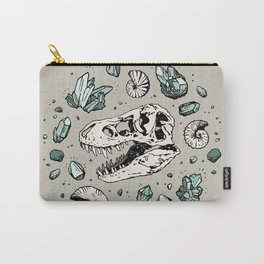 Geo-rex Vortex | Aquamarine | Dinosaur Skull Fossil Art Carry-All Pouch