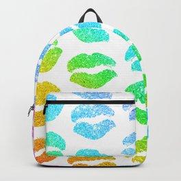 Rainbow Glitter Lips Backpack
