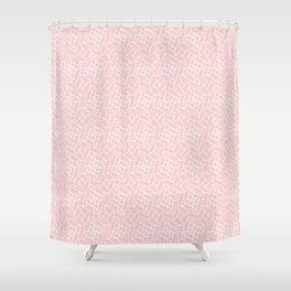 Sweet Peach Doodle Shower Curtain