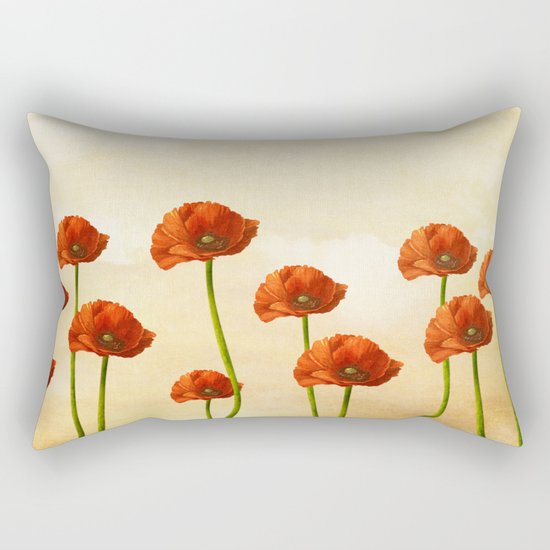 Where the Poppies Bloom Rectangular Pillow