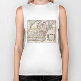 Discovering The Eastern United States Map (1759) Biker Tank
