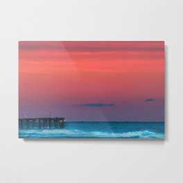Sunset by the Avalon Pier Metal Print