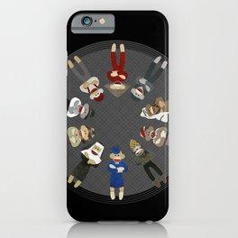 Sock Monkeys of the World iPhone Case