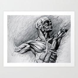 """Ecorche Study""  Art Print"
