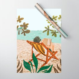 Vacay Book Club #illustration #tropical Wrapping Paper