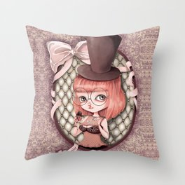 Mademoiselle Aveline Throw Pillow