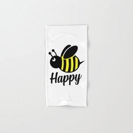 Bee happy feel good Design Hand & Bath Towel