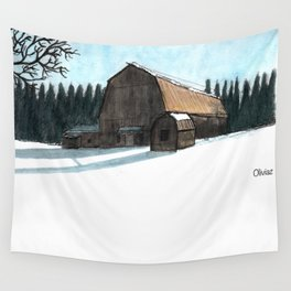 Paysage du Quebec Wall Tapestry