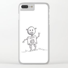 Piggy Bot Clear iPhone Case