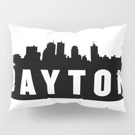 Dayton, Ohio City Skyline Silhouette Pillow Sham