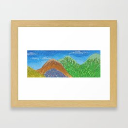 remote vista Framed Art Print