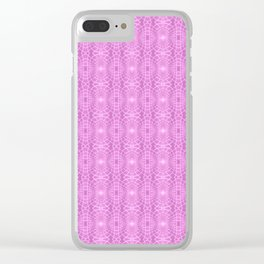 Pink Metallic Gossamer Web Digital Art Clear iPhone Case