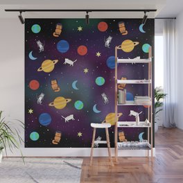 """""""Cats from outer space!"""" Galaxy Print Wall Mural"""