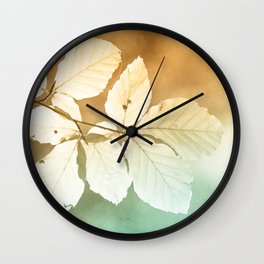 Sun leaves Wall Clock
