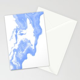 Inno - spilled ink abstract marble painting free water wave ocean swirl marbled paper texture indigo Stationery Cards