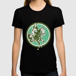 Equestrian Show Jumping Circle Retro T-shirt