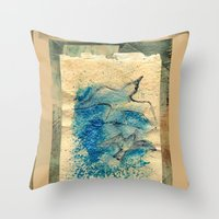 letter Throw Pillows featuring Letter by Irmak Akcadogan