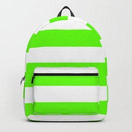 Green slime - solid color - white stripes pattern Backpack