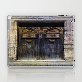 Old brown door Laptop & iPad Skin