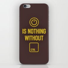 Power is nothing without Control iPhone & iPod Skin