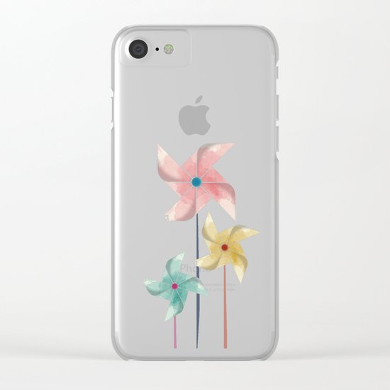 Pinwheels Clear iPhone Case