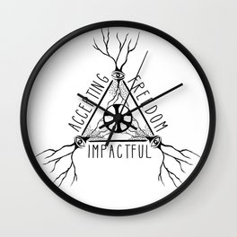 ACCEPTING - FREEDOM - IMPACTFUL Wall Clock