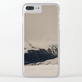 Mont Blanc vintage Clear iPhone Case