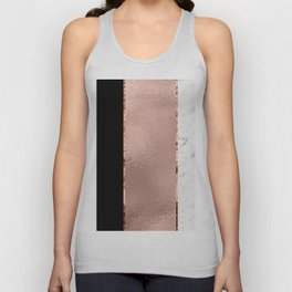 Rose metallic striping - marble and onyx Unisex Tank Top