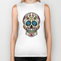 mexican Biker Tanks featuring Mexican Skull by Pancho the Macho