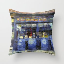 Ye Old Shambles Tavern York Art Throw Pillow