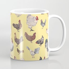 Chicken Happy (yellow) Coffee Mug