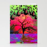 """psychedelic Stationery Cards featuring """"Psychedelic"""" by Moon Willow"""
