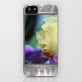 Tall Bearded Iris named Final Episode iPhone Case