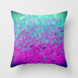 Fuchsia Mint Totally Awesome Spary Paint Throw Pillow