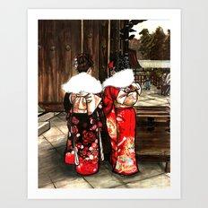 Todaiji (東大寺) Art Print
