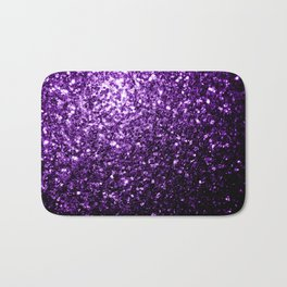 Beautiful Dark Purple glitter sparkles Bath Mat